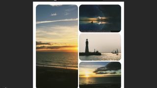 Use the editing tools to create attractive photo collages.