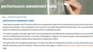 Performance assessment tasks include student worksheets and teacher support materials.