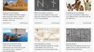 Virtual tours, maps, and images allow students to explore the ancient worlds.