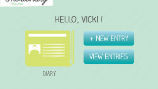Users can add a new entry to choose to view past entries.