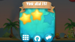 Kids can earn up to three stars for each completed level.