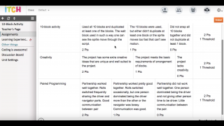 Customizable rubrics for student assessment