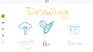 Assistive tools help with drawing and writing.