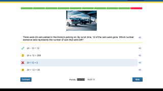 Students can see correct and incorrect answers right away.