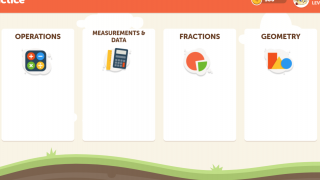 All math activities can be found within four major subsections.