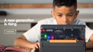 Kano's website featuring their new DIY laptop.