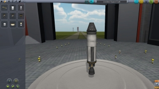 Choose from a variety of parts and modules to create a rocket that will get off the ground.