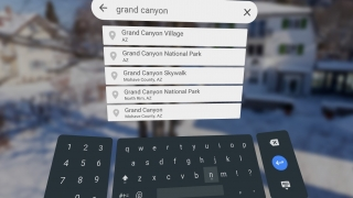 Search for and instantly travel to any area.