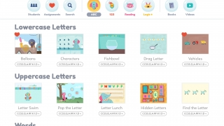 """The library includes hundreds of activities, books, and videos organized by standard, level, or topics like """"ABC"""" and """"123."""""""