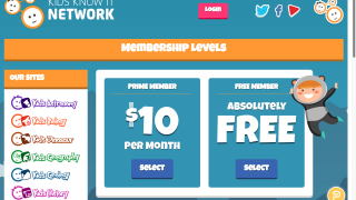 Choose the free, ad-supported version, or pay a per-month fee to access ad-free content.