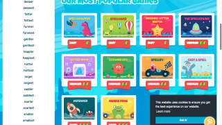 Students and teachers can choose from popular games to supplement classroom instruction.