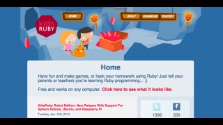 Download the application from the KidsRuby website, which offers a brief description of how it works.