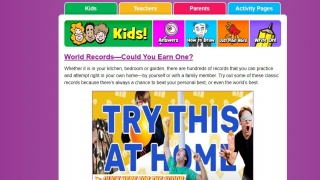 Kid Scoop features articles, puzzles, videos, and games. Some content links out to other sources.