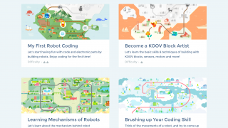 A step-by-step tutorial walks kids through building and coding.