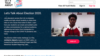 The Youth Media Challenge asks students to voice their views on issues at stake in the 2020 election.