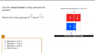 Step two shows a visual representation of the problem so kids can tangibly understand what they are solving.