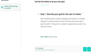 LearnStorm helps students navigate goal setting and planning.