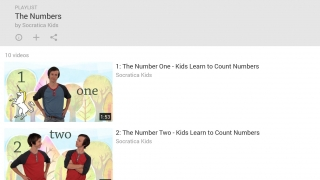 YouTube video channel offers fun, whimsical number videos.