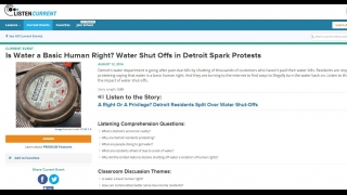 Lesson plans include NPR story to listen to with questions and themes