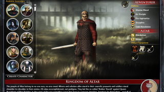 When creating a new game in Fallen Enchantress: Legendary Heroes, players first choose or create a hero to play.