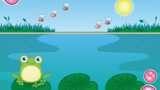 Early levels have smaller numbers and fewer lily pads.