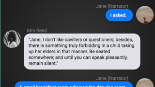 Books get reformatted into group chats, but they still include quotation marks and the like.