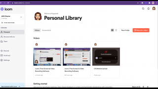 Manage and organize videos within your personal or team library.