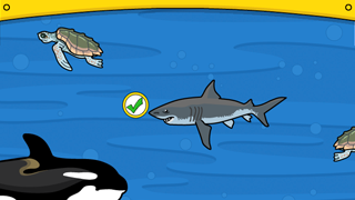 Avoid animals higher up on the food chain while feeding your own creature.