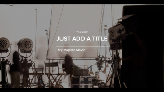 In the final step, users add a title. Once the movie is formatted, users get an email link.