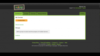 In the K–12 version, teachers can set up student groups and monitor progress.