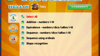 Teachers can customize which type of math skills the game includes for each user.