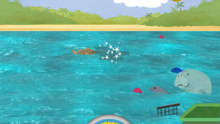 Oil spills disappear with swiping, swiping, and more swiping.