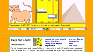 Compare the mass of a variety of objects from cats to pyramids, buildings, planets, and even galaxies.