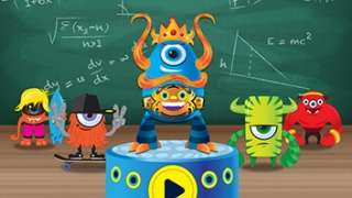 Cute monsters guide kids through challenges and worksheets.