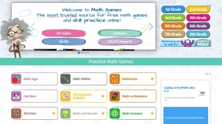 MathGames offers a wide range of ways to practice math skills.