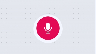 Tap the microphone to record a voice response.