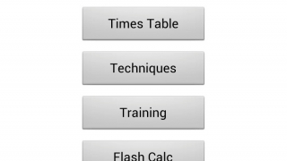 The four options on the main menu offer clear choices for students.