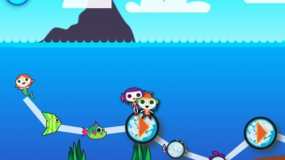 The mermaids must rescue the animals trapped in ice bubbles.