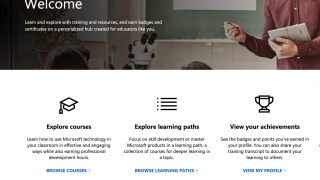 Explore courses and earn badges for all things Microsoft.
