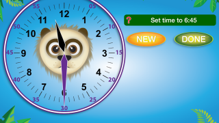 The learning clock gives kids who may have visual discrimination issues an opportunity to differentiate the minute and hour hand.
