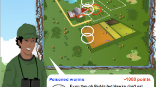 There are a handful of mini-games, including one where players need to land on top of an area filled with various environmental hazards.