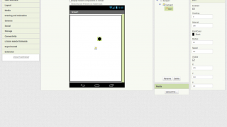 The App Inventor interface is easy to use right in the browser.