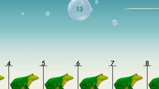 In Zoom, drag the simple number line to the left to find the space for the 13, and quickly, before the needle pops the bubble.