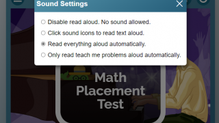 Students and teachers can control the text-to-speech options.