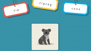 "Which word begins like ""koala""?"