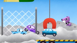 Collect cars on a flatbed to drive to the junkyard and crush.