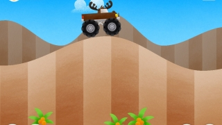 Monster Trucks drive over hills and collect coins.
