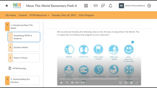 Each daily lesson plan features a video.