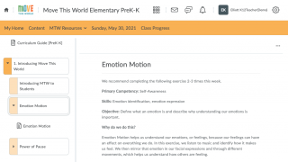The site includes fully broken-down lesson plans.