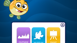 Click the icon in the top corner to quickly navigate areas of the app.
